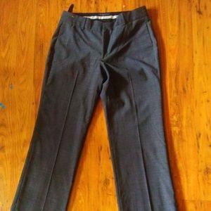 Banana Republic Martin Plaid Dress Pants 4 Grey